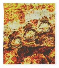 Rusty Shark Scene Fleece Blanket