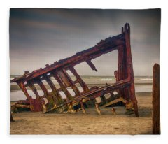Rusty Shipwreck Fleece Blanket