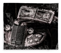 Rusty Truck Fleece Blanket