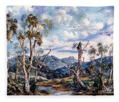 Rwetyepme, Mount Sonda Central Australia Fleece Blanket