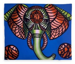 Sacral - Abstract Painting Fleece Blanket