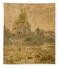 Paris, France - Sacre-coeur Oldplate Fleece Blanket