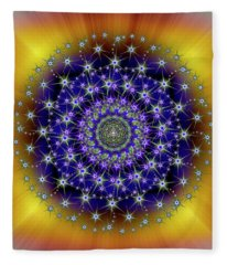 Sacred Geometry 663 Fleece Blanket