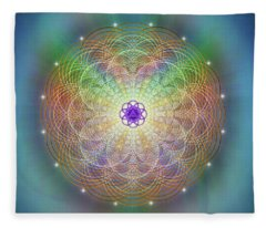 Sacred Geometry 676 Fleece Blanket