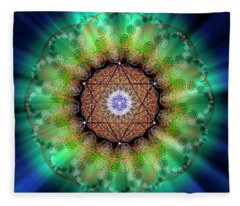 Sacred Geometry 685 Fleece Blanket