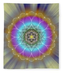Sacred Geometry 686 Fleece Blanket