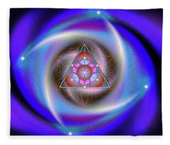 Sacred Geometry 687 Fleece Blanket