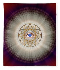 Sacred Geometry 688 Fleece Blanket