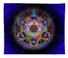 Sacred Geometry 690 Fleece Blanket