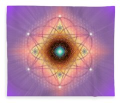 Sacred Geometry 691 Fleece Blanket