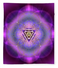 Sacred Geometry 692 Fleece Blanket