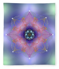 Sacred Geometry 693 Fleece Blanket