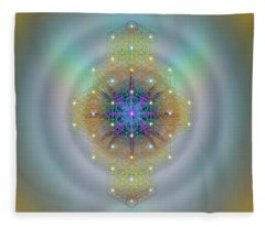 Sacred Geometry 694 Fleece Blanket