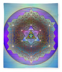 Sacred Geometry 695 Fleece Blanket