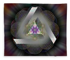 Sacred Geometry 696 Fleece Blanket