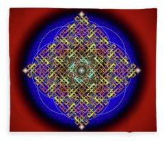 Sacred Geometry 698 Fleece Blanket