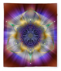 Sacred Geometry 699 Fleece Blanket