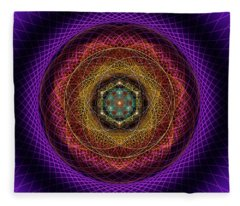 Sacred Geometry 700 Fleece Blanket
