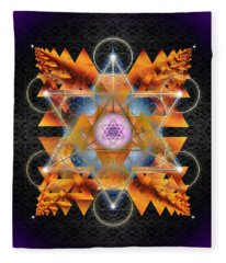 Sacred Geometry 701 Fleece Blanket