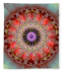 Sacred Geometry 702 Fleece Blanket