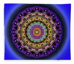 Sacred Geometry 708 Fleece Blanket