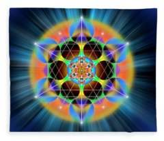 Sacred Geometry 709 Fleece Blanket