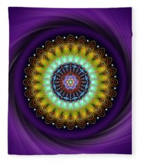 Sacred Geometry 710 Fleece Blanket