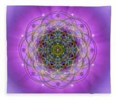 Sacred Geometry 715 Fleece Blanket