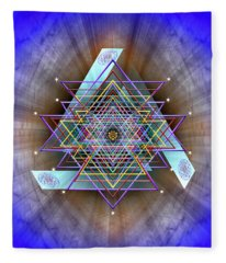 Sacred Geometry 717 Fleece Blanket