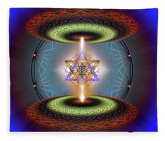 Sacred Geometry 718 Fleece Blanket