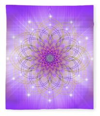 Sacred Geometry 721 Fleece Blanket