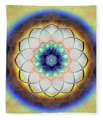 Sacred Geometry 723 Fleece Blanket
