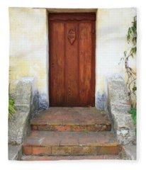 Sacred Heart Door Fleece Blanket