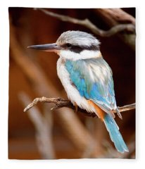 Sacred Kingfisher Fleece Blanket