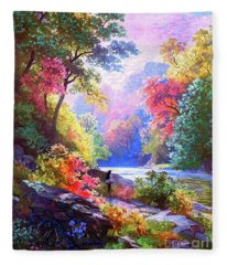 Sacred Landscape Meditation Fleece Blanket