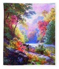 Sacred Landscape Meditation Fleece Blanket