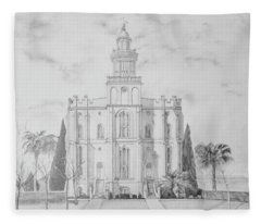 Sacred Steps - St. George Temple Fleece Blanket