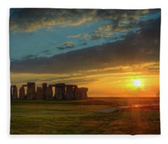 Sacred Sunset Fleece Blanket