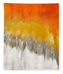 Saffron Sunrise Fleece Blanket