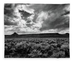 Sage And Clouds Fleece Blanket