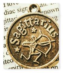 Sagittarius Astrology Design Fleece Blanket