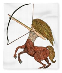 Sagittarius Fleece Blanket