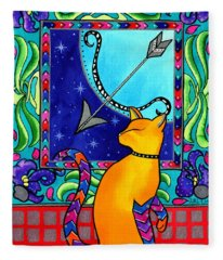Sagittarius Cat Zodiac Fleece Blanket