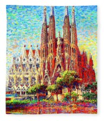 Sagrada Familia Fleece Blanket