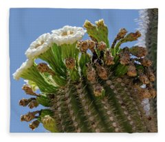 Saguaro Blooms Fleece Blanket