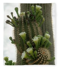 Saguaro Buds And Blooms Fleece Blanket