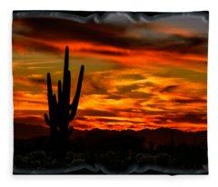 Saguaro Sunset H51 Fleece Blanket