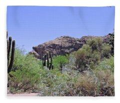 Saguaros Fleece Blanket