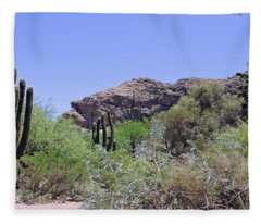 Saguaros Fleece Blanket
