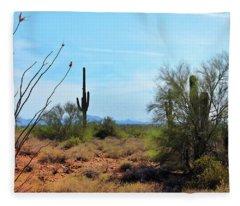 Saguaros In Sonoran Desert Fleece Blanket